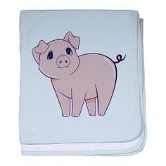 Cute little piggy baby blanket  Little Piggy Store