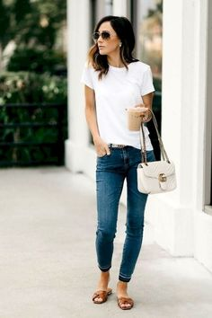 Casual outfit for running errands casual jeans outfit summer, women casual outfits, Mode Chic, Mode Style, Jeans Casual, Casual Jeans Outfit Summer, Casual Chic Outfits, Summer Casual Outfits For Women, Everyday Casual Outfits, Casual Chic Summer, Casual Wear