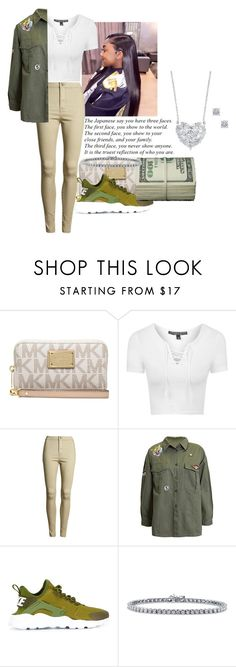 """""""100th Annual Youth Explosion"""" by sammy-pinckney ❤ liked on Polyvore featuring Michael Kors, Topshop, Sans Souci, NIKE, BERRICLE and Charter Club"""