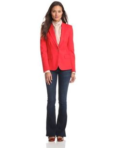 Vince Camuto Women's One Button Blazer Vince Camuto. $150.00. Lined blazer. Machine Wash. Made in China. 98% Cotton/2% Spandex. Button front blazer