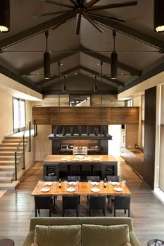 Sun Valley Mountain Modern by Signum Architecture - Decoration Ideas Kitchen Island With Seating, Mountain Modern, Deco Design, Studio Design, Lofts, Home Living, Great Rooms, Interior Architecture, Architecture Layout
