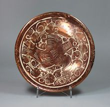 Hispano-Moresque lustre dish, late 17th/early 18th