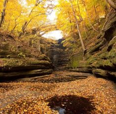 Matthhiessen State Park, one of the stops you can make along the Illinois River Road National Scenic byway. Details: http://www.midwestliving.com/travel/around-the-region/25-ultimate-fall-drives/page/8/0#