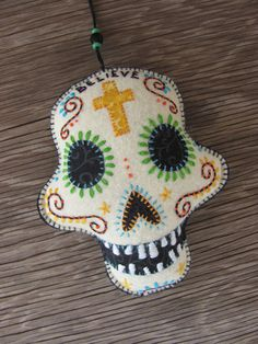 Believe Calaverafelt ornament by 609East on Etsy, $16.00