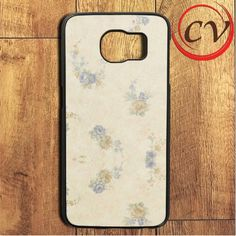 Blue Orange Floral Samsung Galaxy S7 Edge Case