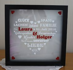 Steffi´s Stempelkeller : Beleuchteter Rahmen zur Hochzeit (Diy Baby Christmas)