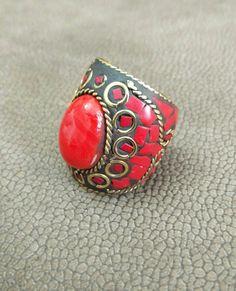 Vintage Handmade Ring Afghan Kuchi Tribal Jewelry Antique Jewelry Banjara Boho Gypsy Indian Ring Woman Fashion Jewelry Ring Free Shipping. by RareFindingsUS on Etsy
