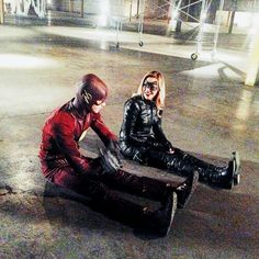 katiecassidy: Super friends doing super things. (Even though we're literally just sitting on the floor) Let's never grow up #grantgustin