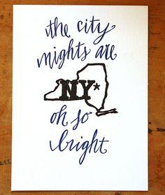 The city lights are oh so bright #NY