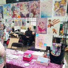 Come find me WAYYYY THE HELLA back in the artist alley haha. I'm on the left side near the bathrooms and ATMs :) Row D!! #animeexpo2015 #animeexpo