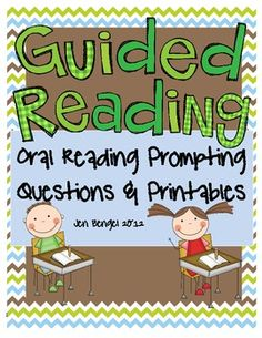 Guided Reading oral reading prompting question cards for when your students struggle with words and phrases while reading.  Observation notes page, student vocabulary page, and vocabulary flashcards:)