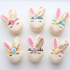 "4,429 Likes, 109 Comments - Christina's Cupcakes (@christinascupcakes) on Instagram: ""Boho chic bunnies  {rose water flavored macarons} thanks to @christinesmolds for the fondant…"""