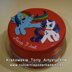 118. Czerwony tort z kucykami Pony. Red cake with My Little Pony.