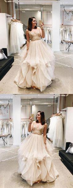 441032a18c6e Long Prom Dress #LongPromDress, Champagne Evening Dresses  #ChampagneEveningDresses Prom Dresses 2019 Unique Prom