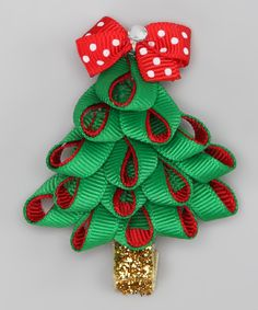 Christmas Tree bow-this is absolutely adorable!