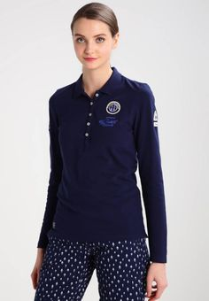 """Gaastra. BRUNA  - Polo shirt - true navy. #PoloShirt Fit:regular. Outer fabric material:95% cotton, 5% spandex. Our model's height:Our model is 70.0 """" tall and is wearing size S. Care instructions:machine wash at 40°C,do not tumble dry. Length:normal..."""
