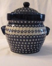 Love this Polish Pottery cookie jar!, $74.95