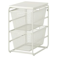 ALGOT Frame With 2 Mesh Baskets/top Shelf white