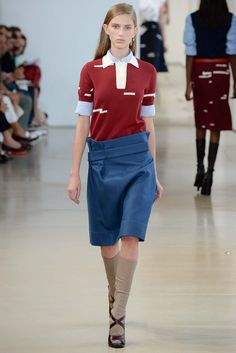 Jil Sander Spring 2015 Ready-to-Wear - Collection - Gallery - Style.com #ColoroftheYear #Marsala