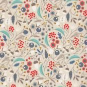 Collection : Wildwood Designer : Elizabeth Olwen Manufacturer : Cloud 9 Fabrics Width : 44' wide Content : 100% Certified Organic Cotton  Fabric is priced per metre. 1 metre = 39 inches. Minimum cut is .25 metres. Orders for .25 metres can be cut as a fat...