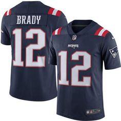 Tom Brady Navy Blue Men's Stitched NFL Limited Rush Jersey