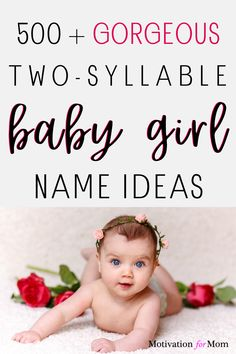 This list has over 500 ideas for two syllable girl names that are short and sweet and easy to fall in love with. Some of these are common baby girl names, and some of these are unique baby girl names. Whether you are looking for first names or middle names for your baby girl, this list will give you plenty of ideas for two syllable baby girl names! Unusual Baby Names, Unique Baby, Two Syllable Girl Names, Gender Neutral Names, Baby Name List, Potty Training Tips, Natural Birth, Baby Girl Names, Work From Home Moms