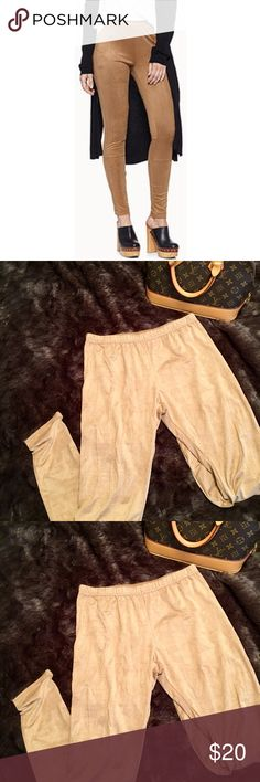 Suede leggings Light tan colored suede leggings. Never worn, just removed the tags Xhilaration Pants Leggings