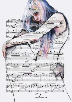 Waiting+Place+on+sheet+music+by+agnes-cecile.deviantart.com+on+@DeviantArt