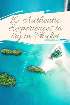 10 Authentic Experiences to try in Phuket. Amidst all this commercialization, there is still tremendous scope to get off the tourist trail and venture into something more local. So when in Phuket, skirt some of the all-too-obvious attractions and go for these 10 authentic experiences instead. #phuket #thailand