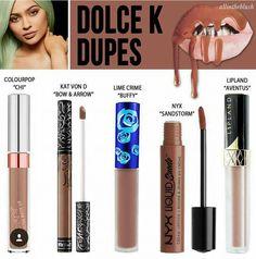 Dolce K Dupes | Colourpop | Kat Von D | Lime Crime | NYX | Lipland | Lipstick | Make Up