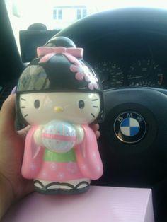 Hello Kitty Sakura Geisha Coin Bank Rare!
