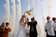 This image was the winner for Wind Visuals photo contest. Dove Release, Wedding Flags, Wedding Vendors, Wedding Ideas, Chic Wedding, Santa Rosa Beach, Wedding Store, Wedding Rehearsal, Country Chic