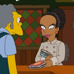 Animation Appreciation: The Simpsons Recognizes Natural Nigerian Author Chimamanda Ngozi Adichie | Black Girl with Long Hair