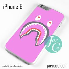Pink Bape Shark Phone case for iPhone 6 and other iPhone devices