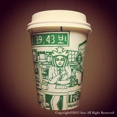 [cup art] What is my lucky number? (with Starbucks)