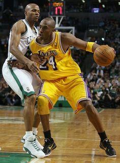 Kobe Bryant Los Angeles Lakers Ray Allen Boston Celtics