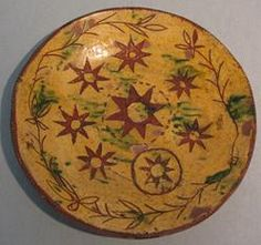 Slipware bowl, mid-19th cent.  | The Museum of Fine Arts, Houston