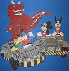 Disney Dinosaur Paper Piecing