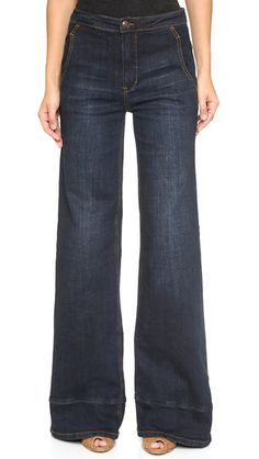 Free People High Waisted Bell Bottom Jeans