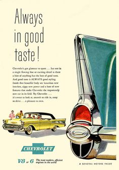 1957 Chevy Ad #ThrowbackThursday #AutoAdvertising