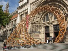 'Timber Wave' by Amanda Levete Architects outside the V