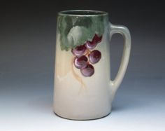 Favorite Bavaria Antique Mug with Peaches Hand by DejaVuPorcelain