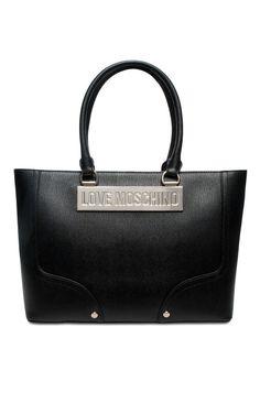 Handväska JC4022PP11LB0000 BLACK/GOLD - Love Moschino - Designers - Raglady