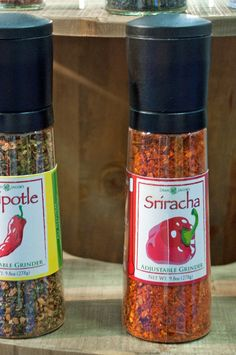Sriracha Grinder: We've never seen this before, but a sriracha pepper grinder sure is an interesting way to spice up a meal.