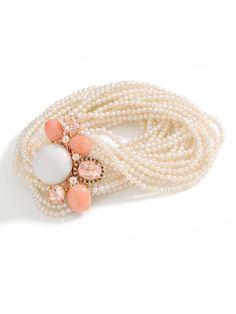 Brumani 18k Multi Strand Pearl and Gemstone Bracelet at London Jewelers!
