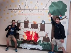 Voyager Academy in Durham, NC creates an awesome Camp High Five display!