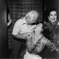 Ava with her first husband, Mickey Rooney, whose looking somewhat older.