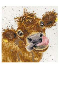 Moo Counted Cross Stitch Kit by Bothy Threads — Cross Stitch Boutique
