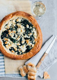 Stuffed Turkish bread with spinach and feta From Pauline's Kitchen - Air Fryer Recipes Yummy Snacks, Yummy Food, Happy Foods, Feta, Fabulous Foods, Food Inspiration, Love Food, Food Blogs, Food Porn