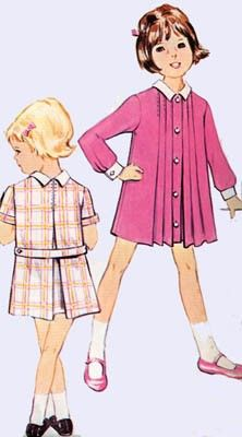 Vintage 60s Advance 3398 CUTEST A Line Dress with by sandritocat, $12.00
